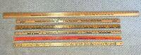 "Lot 6 vintage wood wooden Advertising YARD STICK Ruler CHEVROLET BANK 36"" 48"""