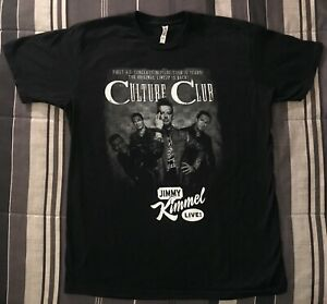 Culture Club T-shirt Culture Club Jimmy Kimmel Live 2016 Men's Large Black RARE