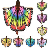 Women Butterfly Wing Shawl Scarves Scarf Nymph Pixie Poncho Costume Accessory AU
