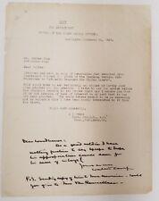 """Walter Camp Signed TLS Autographed Letter 8.5"""" x 11"""" 1918 Yale JSA"""