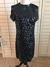 Vintage Marie McCarthy Larry Aldrich Size 8 BEADED SILK Dress