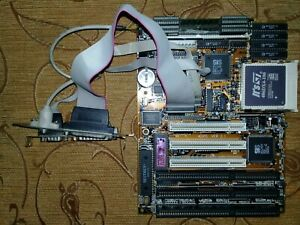 Motherboard Socket 3 PCI ZIDA 4DPS + CPU 486DX4-100 + RAM 16MB+ Cable PS/2 Test