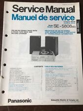 Original Panasonic Technics Model SE-5808 Turntable Stereo Service Manual