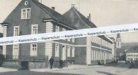 Emmendingen im Breisgau - Straßenansicht mit Kirche - um 1930 oder früher