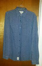 DENIM & SUPPLY M/M Ralph Lauren MEN'S white Blue PLAID FLANNEL shirt