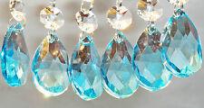 Lampadario Cut Glass crystals Turchese Ovale Gocce DECORAZIONI ALBERO DI NATALE