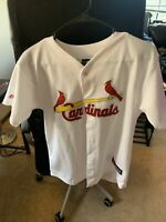 Yadier Molina St. Louis Cardinals Majestic Player Jersey - White Large
