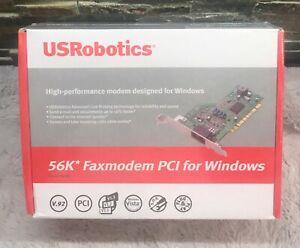 56k Faxmodem PCI for Windows USR New Unopened Old Stock USR5699B US Robotics