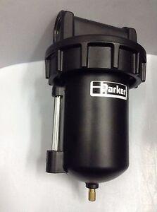 "PARKER F602 Series  F602-G08W /E Compressed Air Filter 1"" Metal Bowl 17 bar"