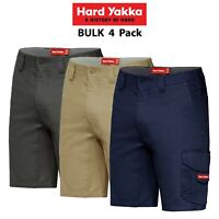 Mens Hard Yakka Koolgear Vented Cargo Shorts 4 PACK Tough Tradie Summer Y05140