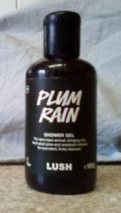 LUSH Plum Rain Shower Gel 100g - Brand New & Unused
