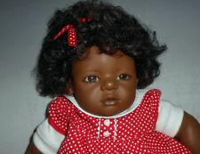 """Annette Hemstedt 23"""" Vinyl Baby Girl Doll of Color Mo"""