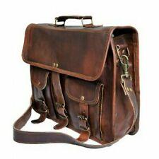 8d6a677672 2019 new Vintage Brown Satchel Leather Messenger Bag Shoulder Laptop  Briefcase