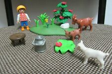 Playmobil - Animales Granja - Niño Pastor Cabra Cabrito Cria - 4499 - (COMPLETO)