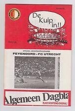 Orig.PRG  1.Liga Niederlande / Eredivisie 1983/84  FEY.ROTTERDAM - FC UTRECHT !!