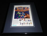 DC Super Powers Action Figures 1985 Framed 11x14 ORIGINAL Vintage Advertisement