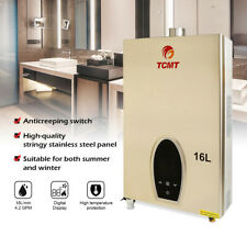 16L  Natural Gas Tankless Hot Water Heater Instant On Demand Whole House