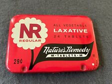 Vintage NR NATURE'S REMEDY Vegetable Laxative Small Tin With Product