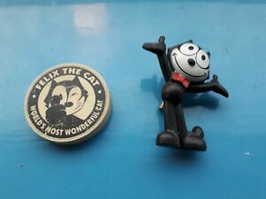 Vintage collectable Felix the Cat brooch and eraser