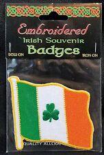 IRISH FLAG. embroidered iron-on BADGE PATCH SOUVENIR