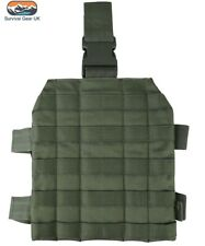 Green M4 Molle Drop Leg Platform Military Style Leg Panel Airsoft Army Cadet