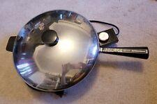 """Vintage 12"""" Farberware Stainless Steel Electric Skillet"""