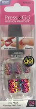 imPRESS 24 short press on false nails in multi leopard print gel shine - 57687