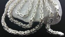 925 Sterlingsilber MASSIV Vierkant Königskette echt Silber Herren Halskette 66cm