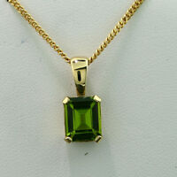 Anhänger Peridot 10x8 mm  POWERFARBE massiv 585er Gelbgold Top SW ca.1.055.-Euro