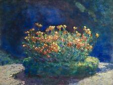 BERNARDO BIANCALE (1879-1959) LARGE ITALIAN IMPRESSIONIST OIL - FLOWERS c.1910