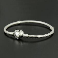 Authentic Genuine Pandora Sterling Silver Heart Clasp Bracelet 19cm - 590719-19