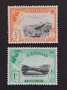 Swaziland - 1956 - QEII Low Value Definitives VF MNH