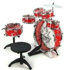 11pc Kids Boy Girl Drum Set Musical Instrument Toy Playset RED Red