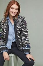 NEW Anthropologie Rosie Neira Nordic Cardigan Sweater Size Large Petite