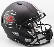 SOUTH CAROLINA GAMECOCKS (Matte Black) Riddell Full Size SPEED Replica Helmet