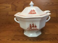 Wedgwood FLYING CLOUD RUST Tureen with Ladle ~ Excellent