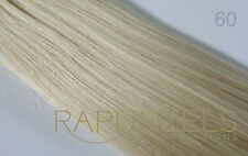platinum blonde, lightest blonde, Rapunzels human hair extensions weave weft