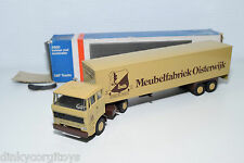 LION CAR DAF 2800 TRUCK WITH TRAILER MEUBELFABRIEK OISTERWIJK NEAR MINT BOXED