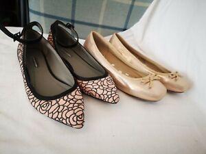 Dorthy perkins women's Flat Shoe Bundle size 5 hardle used ballerina flats smart