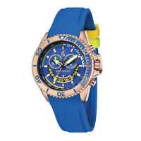 Spinnaker Men Amalfi Chrono SP-5021-03 46mm Blue Dial Silicone Watch