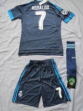NEW Real Madrid soccer jersey,shorts,socks RONALDO Medium navy blue 3rd USseller