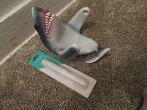 Jaws Shark Bathroom Toilet Paper Roll Holder Wall Mount