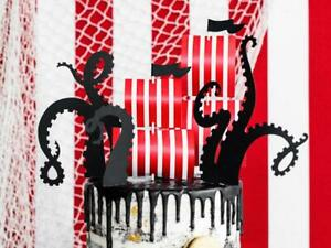 Pirate Ship Cake Toppers - Pirate Birthday Cake Decorations - Kids Party Cake