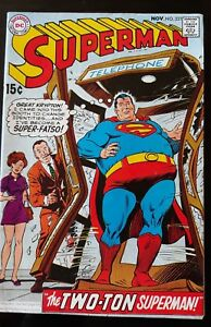 DC SUPERMAN #221 Swan Cover and Art 1969 VG/FN Vintage Comic