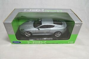 Welly Aston Martin DB9 Coupe 1:18 Scale Diecast Model Car Silver 18045W