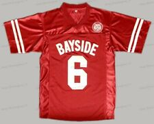 A.C. Slater #6 Bayside Saved By The Bell AC Costume Football Jersey Red S-3XL