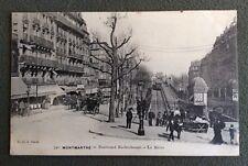 CPA. PARIS. 75 - Montmartre. 1903? Boulevard Rochechouart. Le Métro. Commerces.
