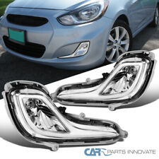 For 12-17 Hyundai Accent GL GLS Driving Fog Lights Bumper Lamps+Switch+Bezel