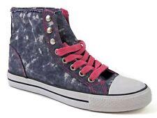 Riot by Rampage Women's Daria1 Fashion Ankle Sneaker Shoes Denim Pink Size 6 M