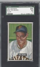 1951 Bowman baseball card #308 Ted Beard, Pittsburgh Pirates graded SGC 84 NM 7